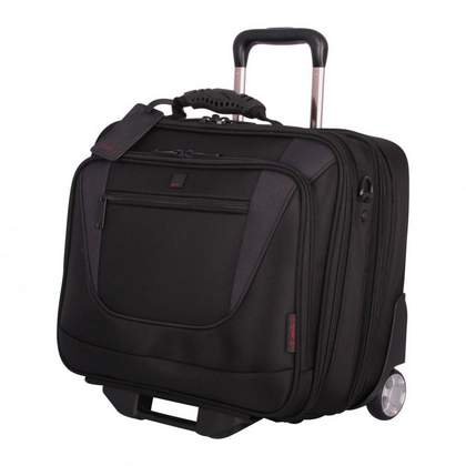 Tripp Technology Wheeled Tote Black