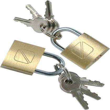 Travel Blue Twin Padlocks