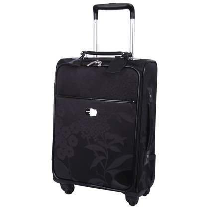 Jasper Conran at Tripp Hydrangea 4-Wheel  Cabin Suitcase Black