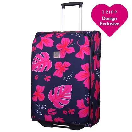 Tripp Expr Scattered Leaf 2W Medium suitcase Navy/Magen