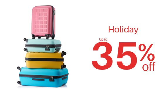 Holiday 6 to 30% off