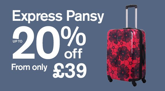 Express Pansy hard up to 20% off