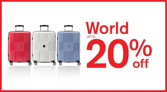 World up to 20% off