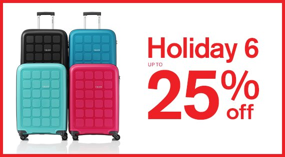 Holiday 6 25% off