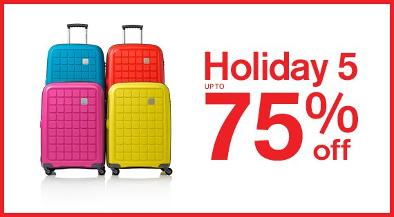 Holiday 5 Up to 65% off