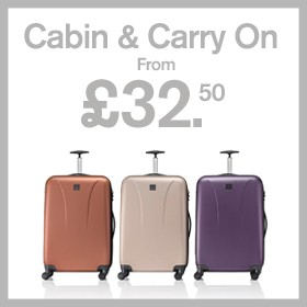 Cabin & carry on from £32.50