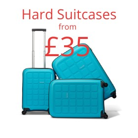 Hard suitcases from only £35