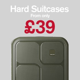 Hard suitcases from £39.00