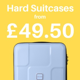 Hard suitcases from only £37