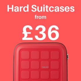 Hard suitcases from only £36
