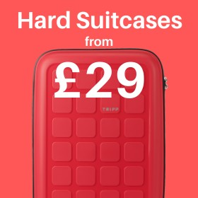 Hard suitcases from only £29