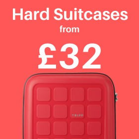 Hard suitcases from only £32