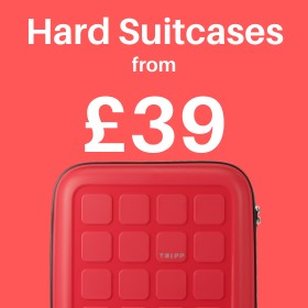 Hard suitcases from only £39