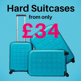 Hard suitcases from only £34