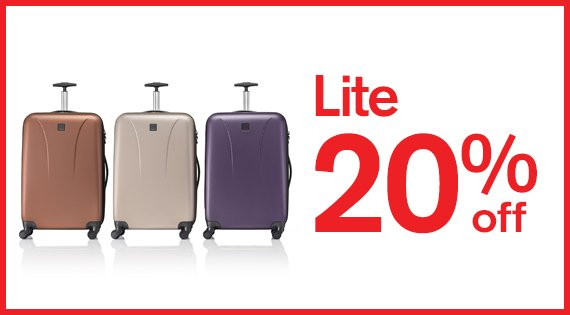 Lite up to 20% off