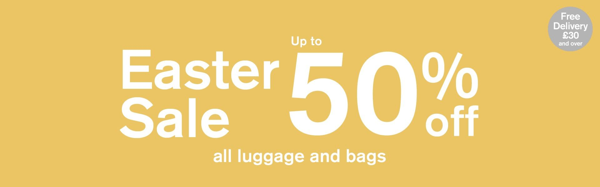 upto 50% all luggage