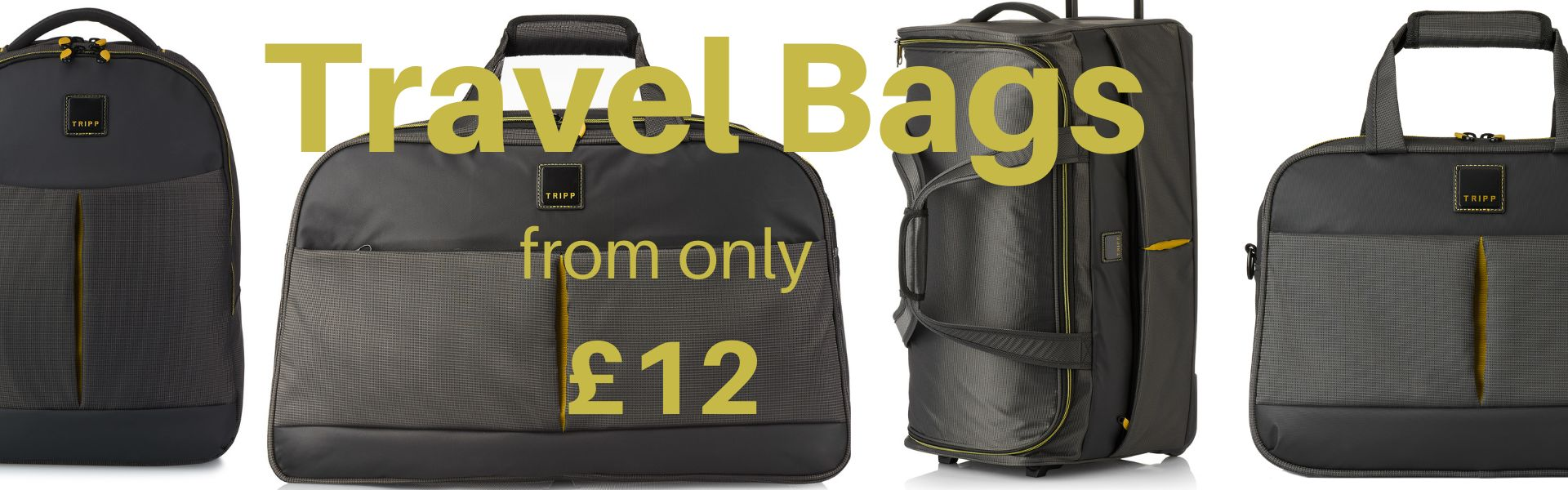 Travel bags from £12