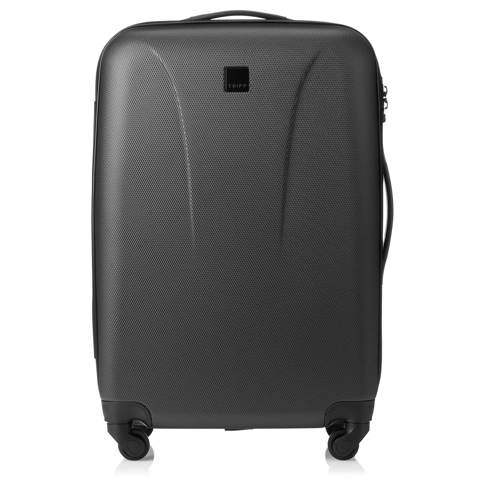 tripp black 39 lite 39 4 wheel medium suitcase tripp ltd. Black Bedroom Furniture Sets. Home Design Ideas