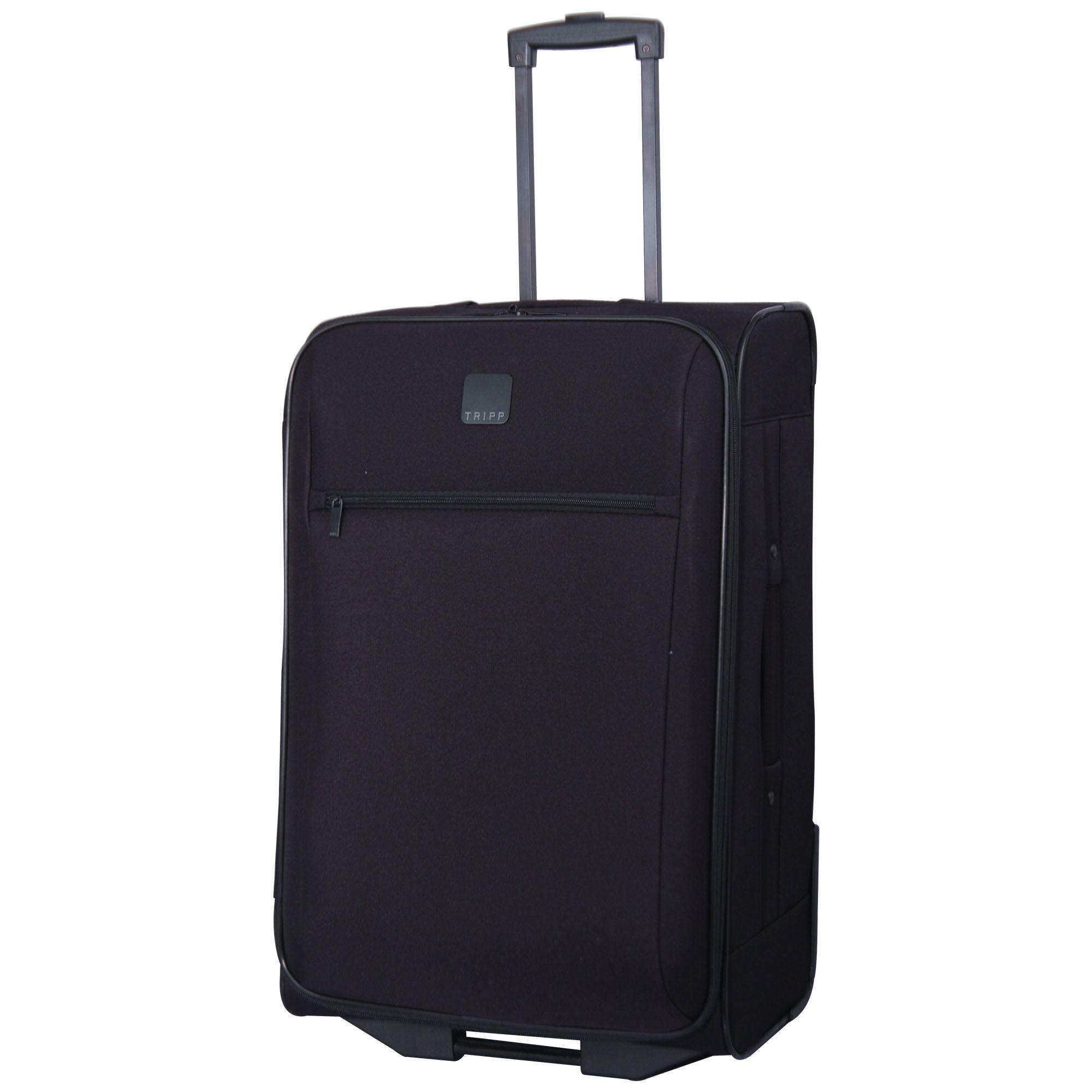 tripp black 39 glide lite iii 39 2 wheel medium suitcase. Black Bedroom Furniture Sets. Home Design Ideas