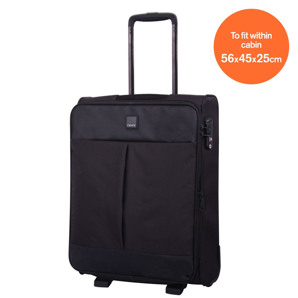 tripp black black 39 style lite 39 2w exp cabin suitcase. Black Bedroom Furniture Sets. Home Design Ideas