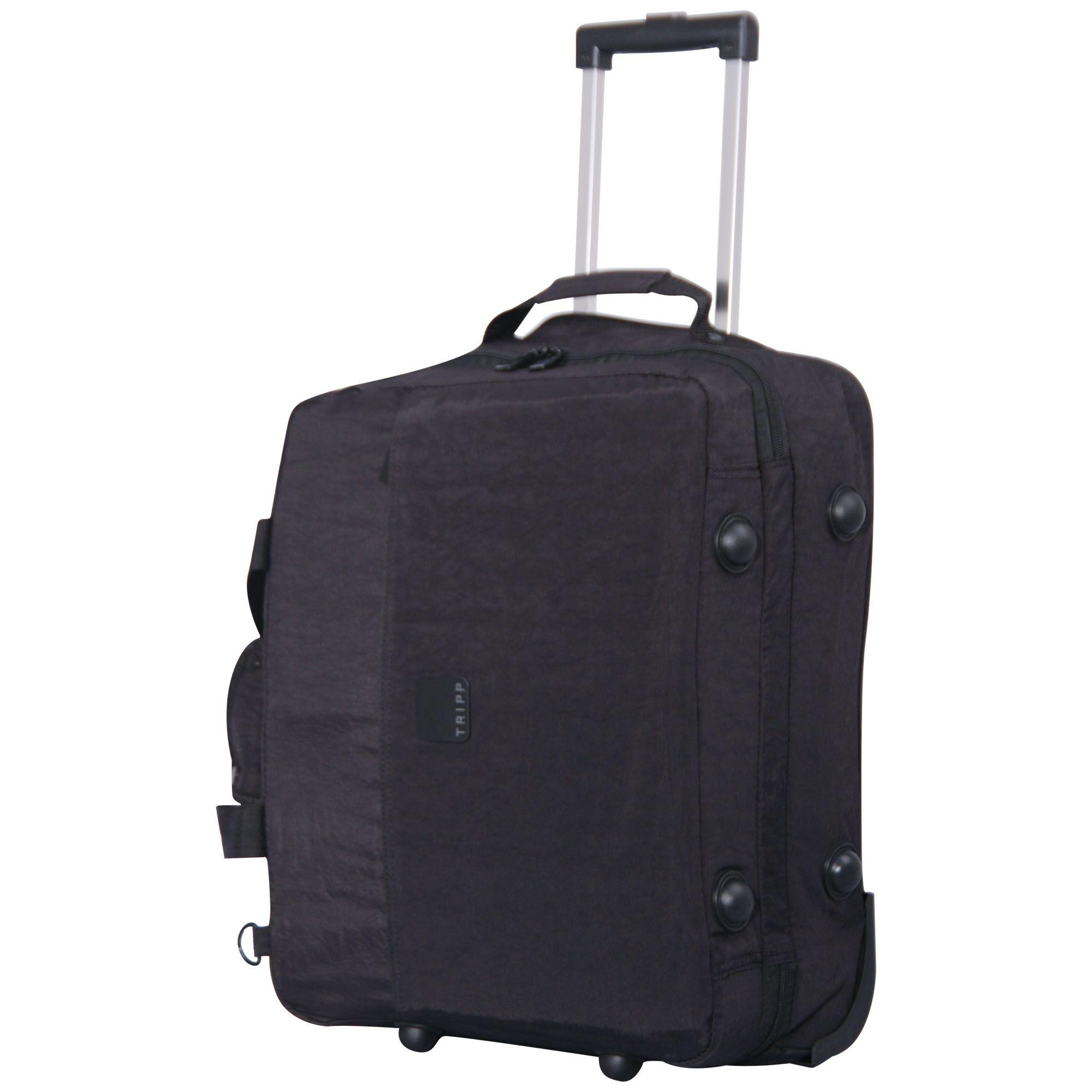 Tripp Black Holiday Bags 2 Wheel Cabin Duffle Soft