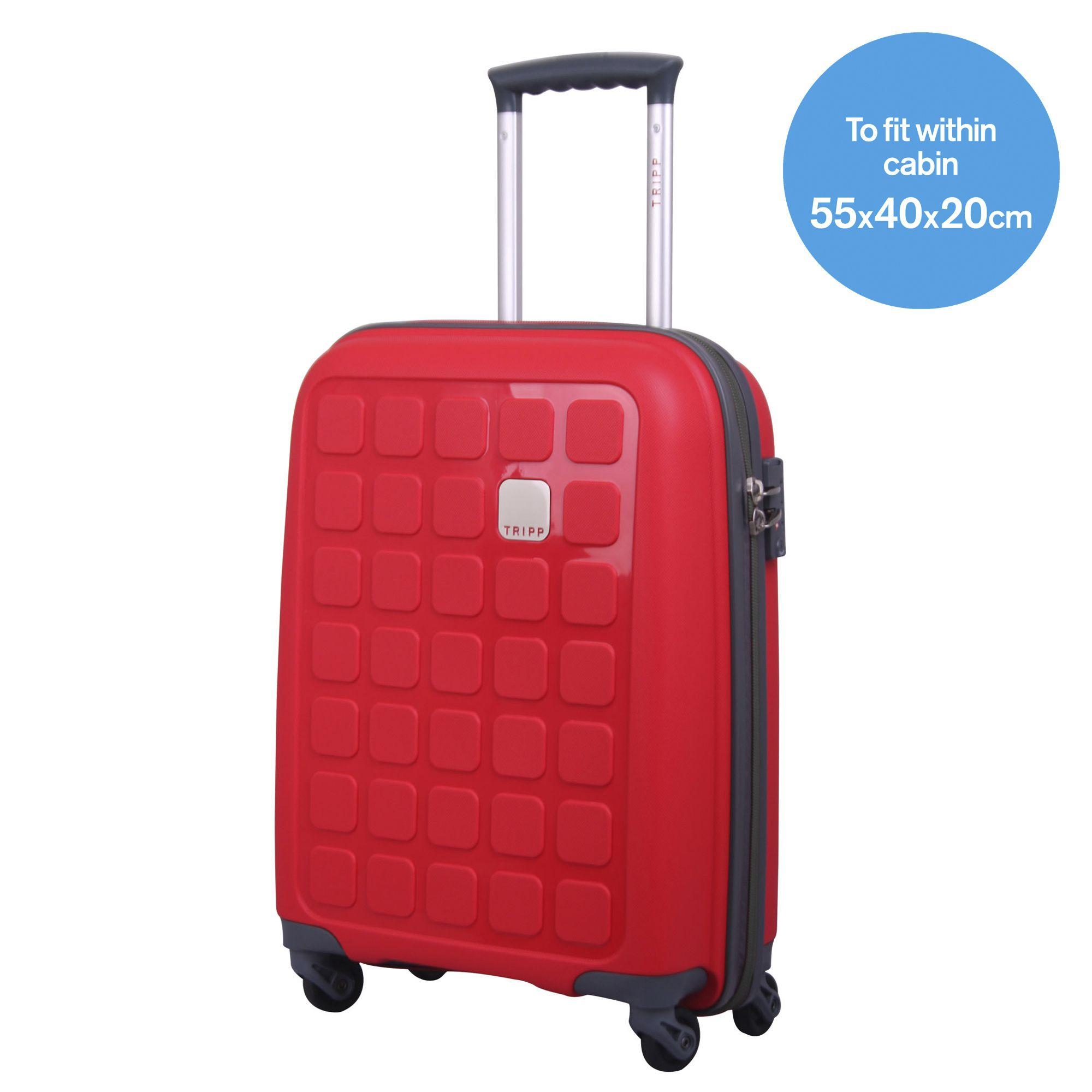 tripp poppy ii 39 holiday 5 39 cabin 4 wheel suitcase hard. Black Bedroom Furniture Sets. Home Design Ideas