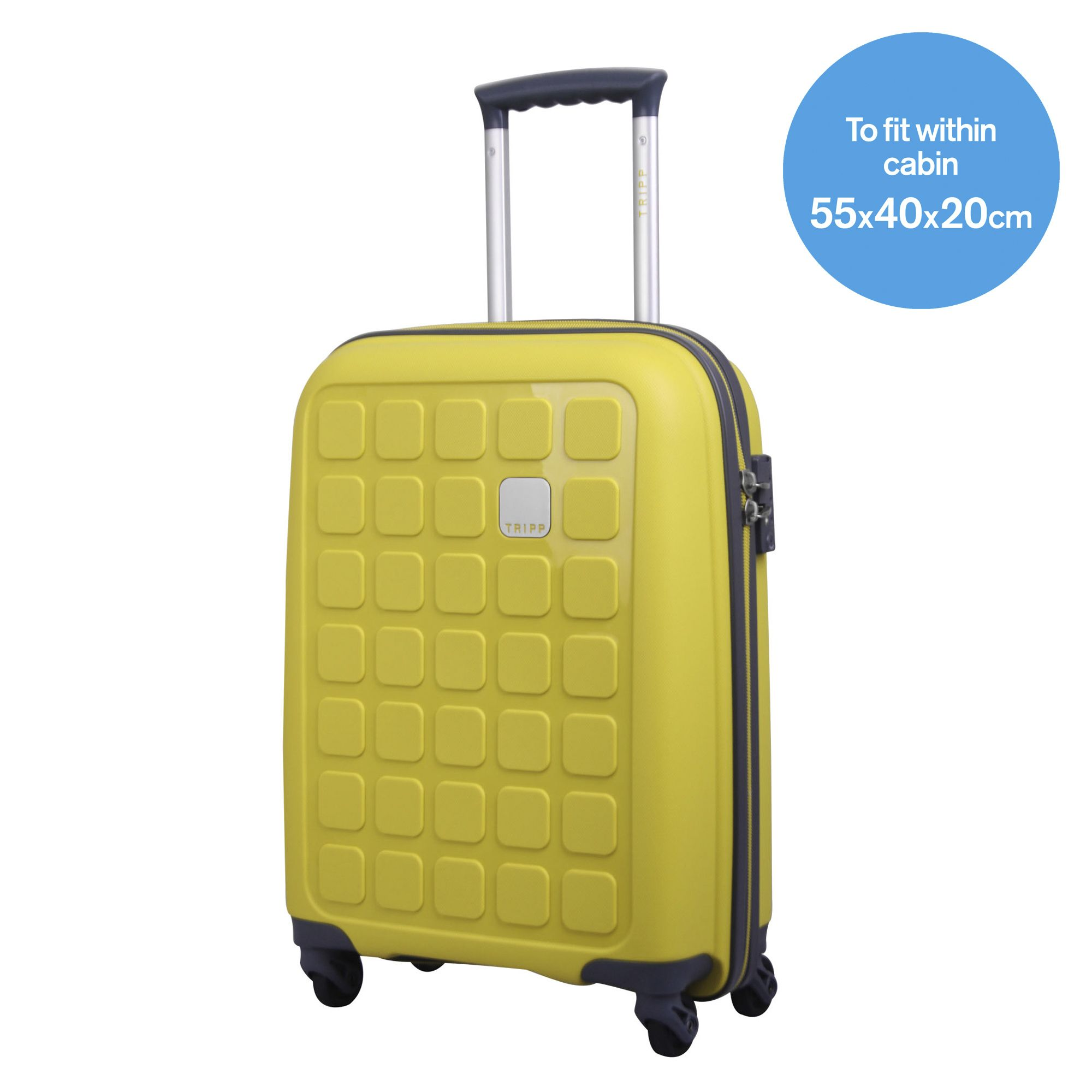 Tripp citron II 'Holiday 5' cabin 4 wheel suitcase - Hard ...
