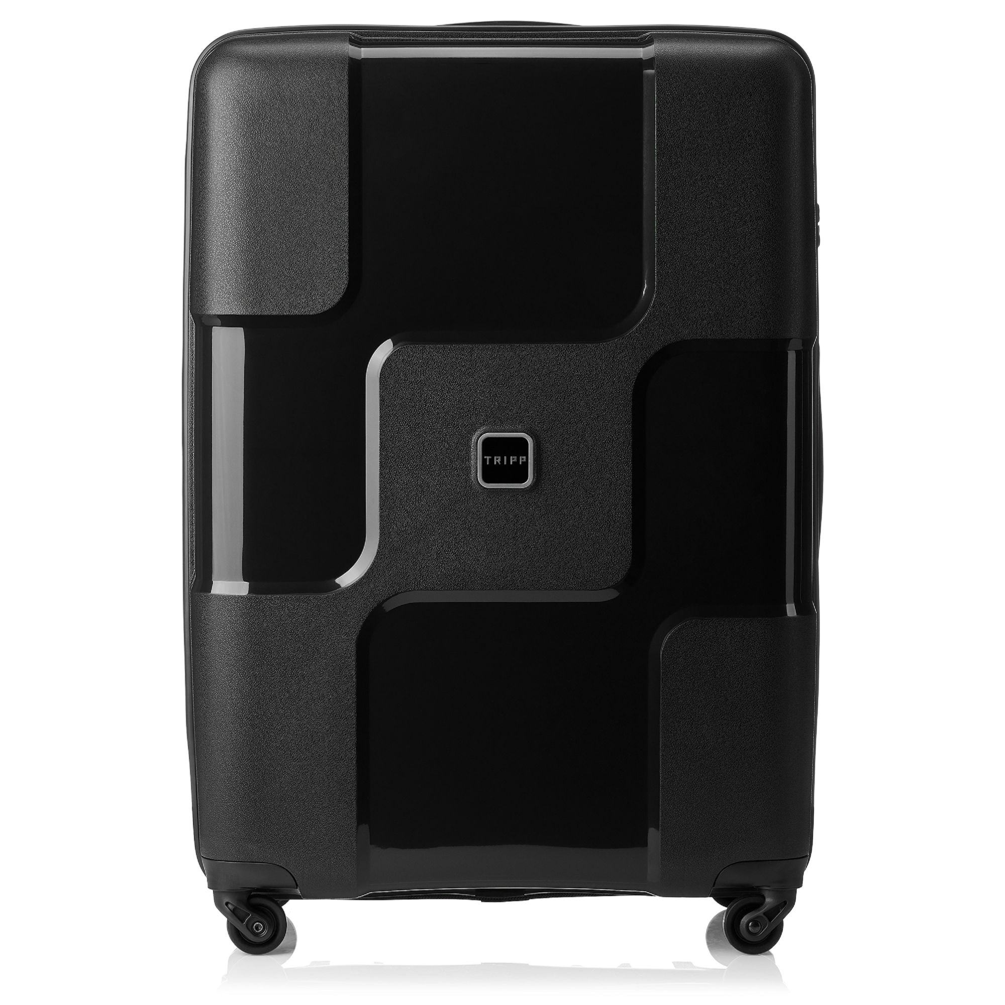tripp black ii 39 world 39 4 wheel large suitcase hard. Black Bedroom Furniture Sets. Home Design Ideas