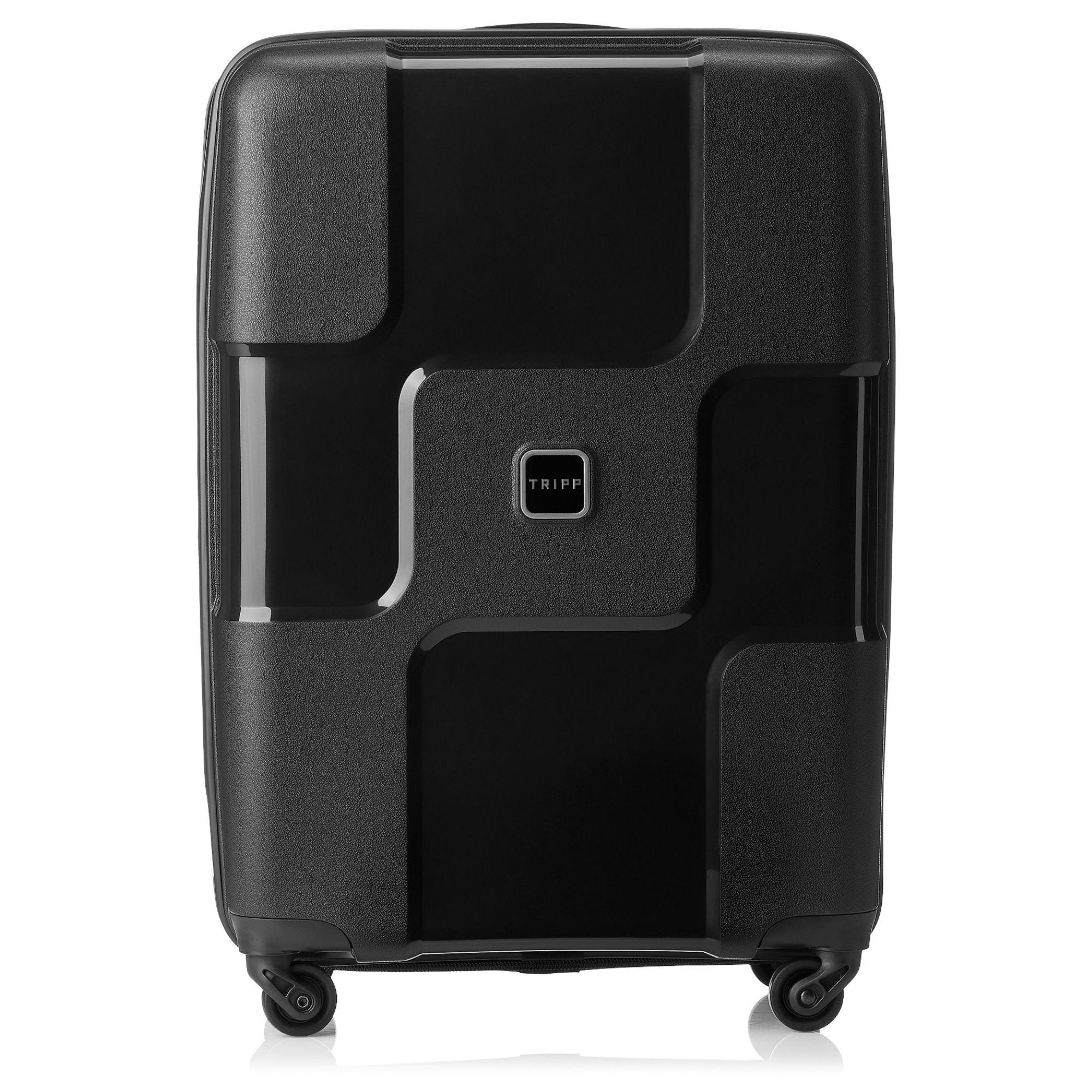 tripp black ii 39 world 39 4 wheel medium suitcase hard. Black Bedroom Furniture Sets. Home Design Ideas