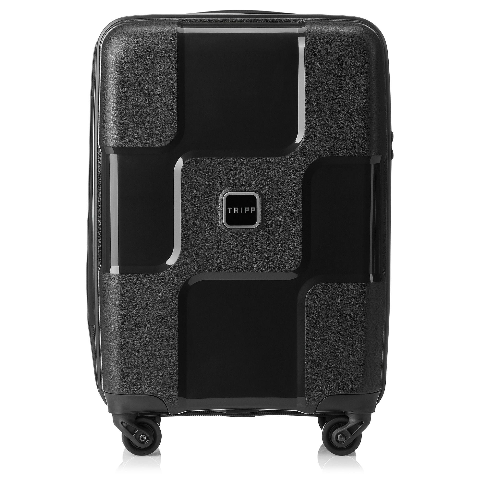 tripp black ii world 4 wheel cabin suitcase hard. Black Bedroom Furniture Sets. Home Design Ideas
