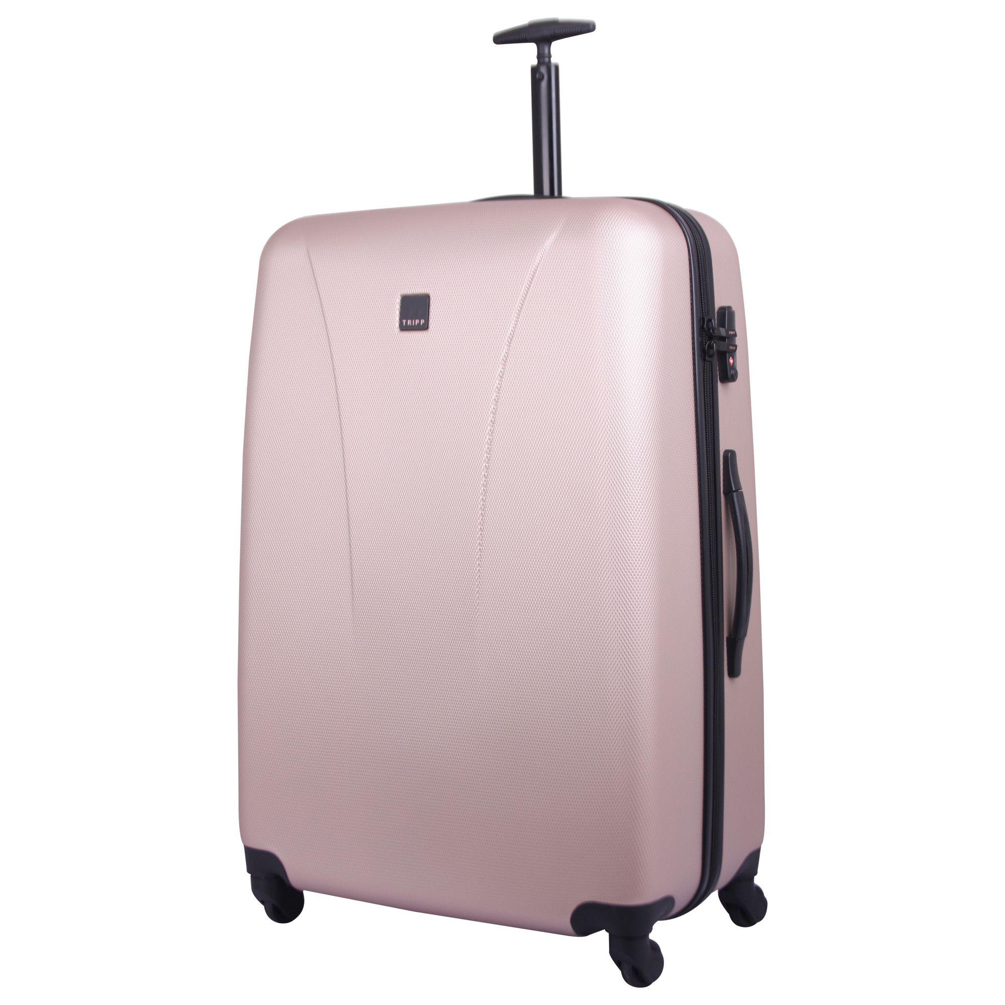 tripp champagne 39 lite 39 large 4 wheel suitcase hard shell. Black Bedroom Furniture Sets. Home Design Ideas