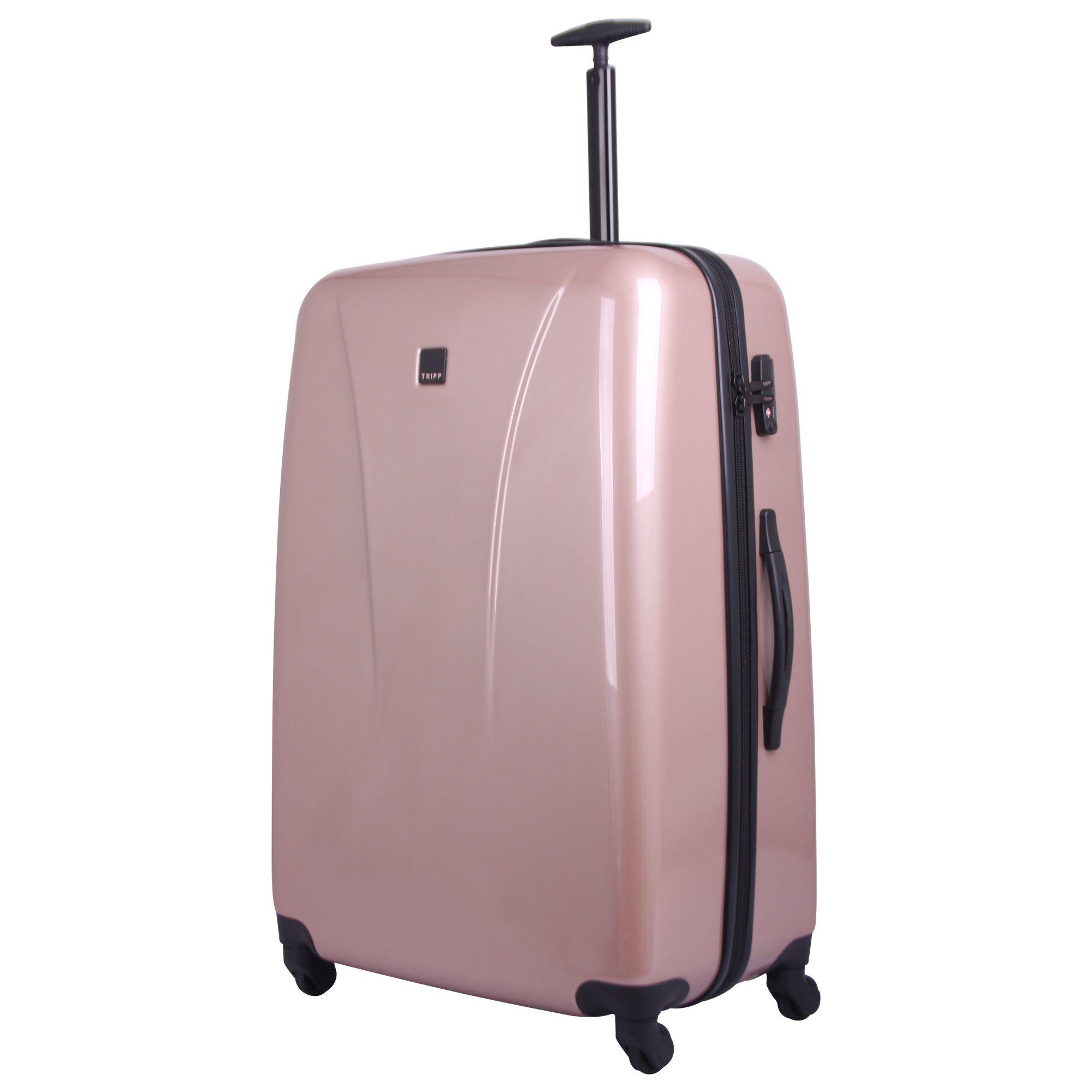 tripp blush 39 chic 39 large 4 wheel suitcase hard shell. Black Bedroom Furniture Sets. Home Design Ideas