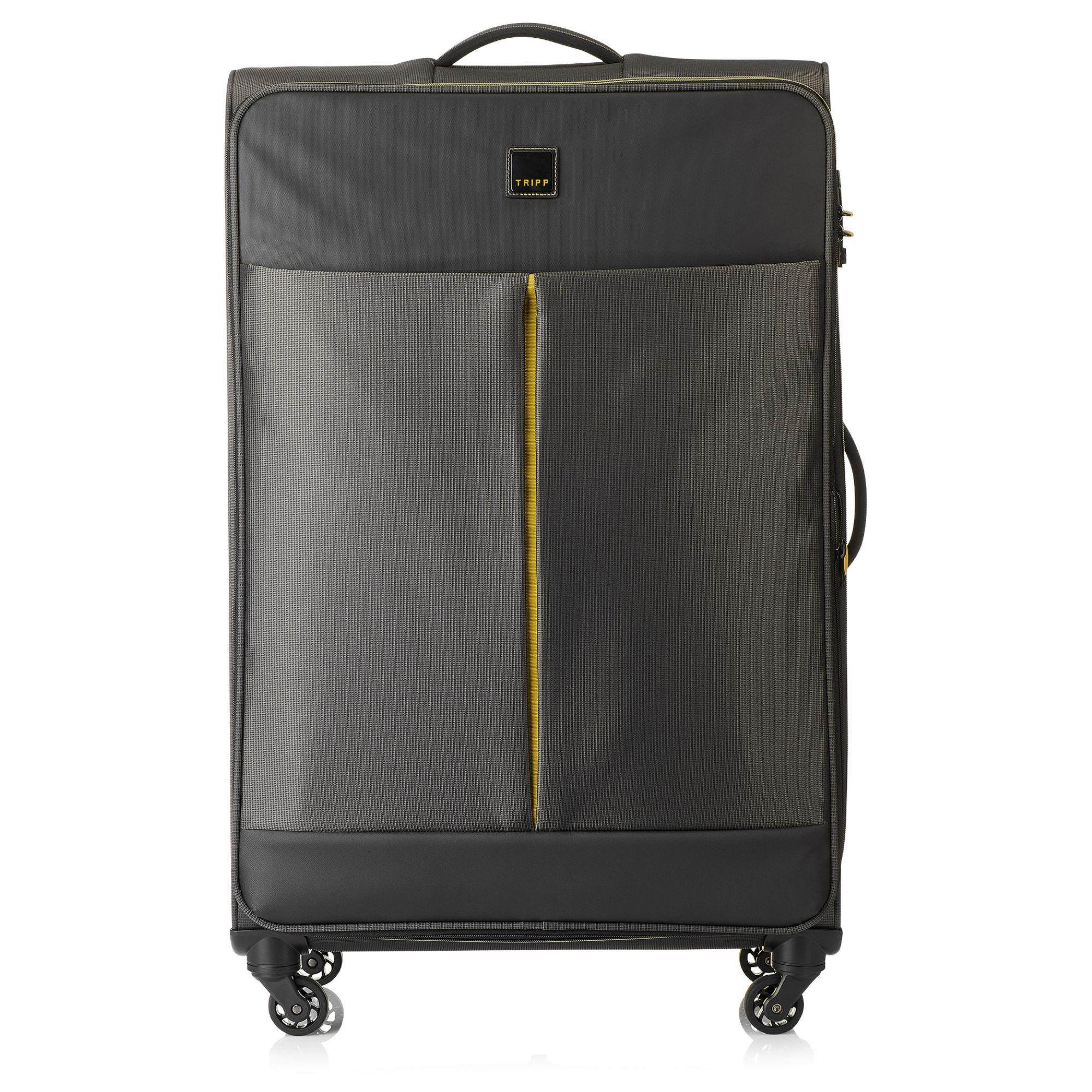 tripp graphite 39 style lite 39 large 4 wheel suitcase soft. Black Bedroom Furniture Sets. Home Design Ideas