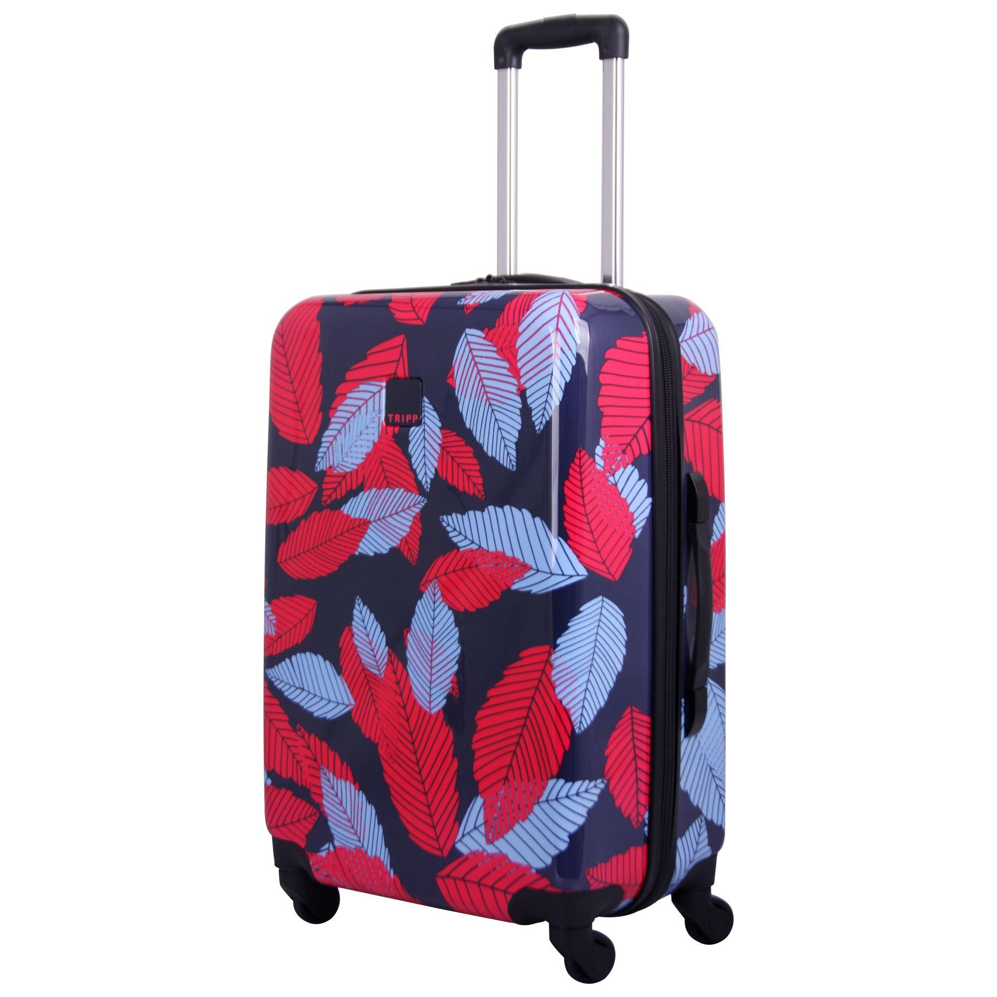 Tripp Denim Blue Poppy Leaf Hard Medium 4w Suitcase