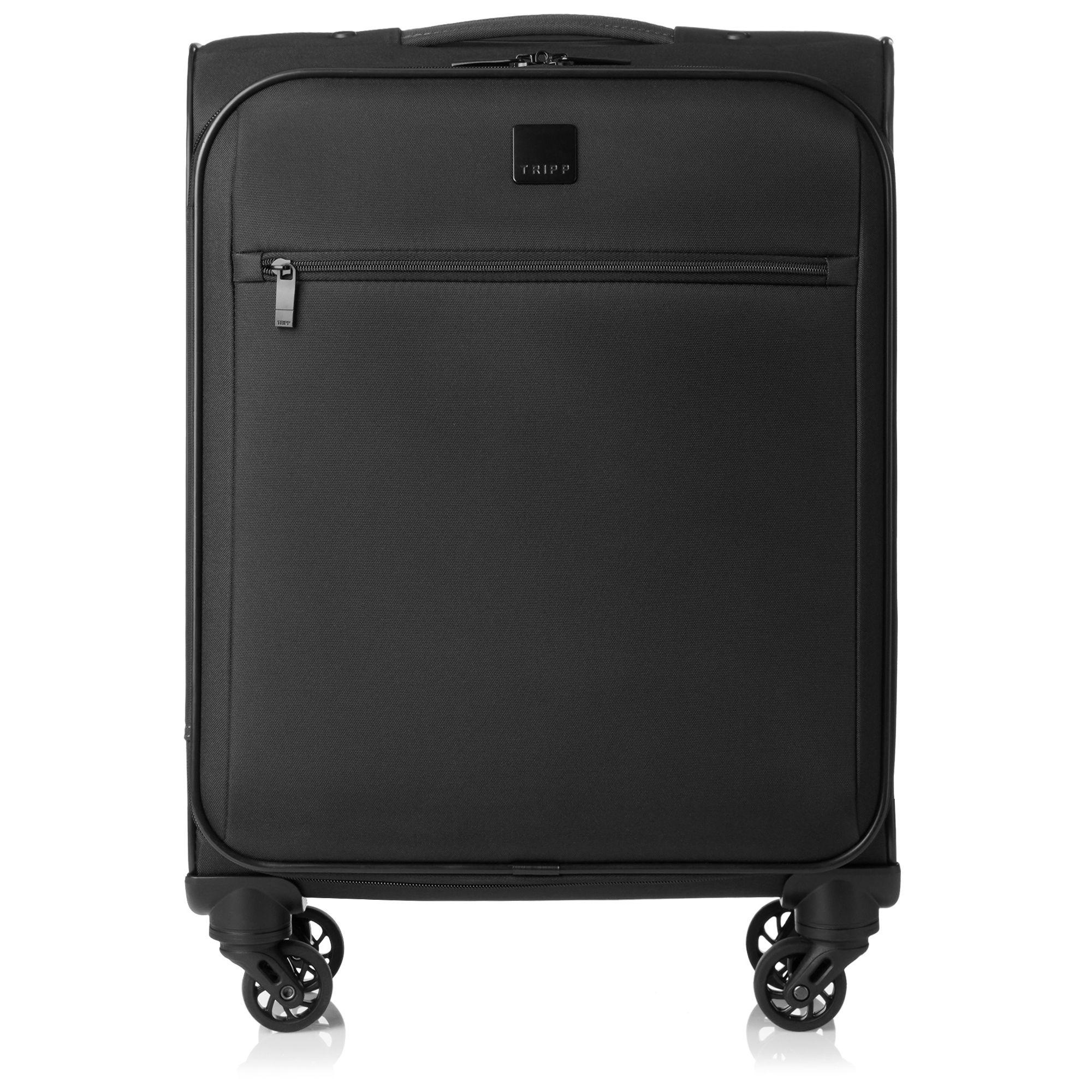 tripp black 39 full circle 39 cabin 4 wheel suitcase soft. Black Bedroom Furniture Sets. Home Design Ideas