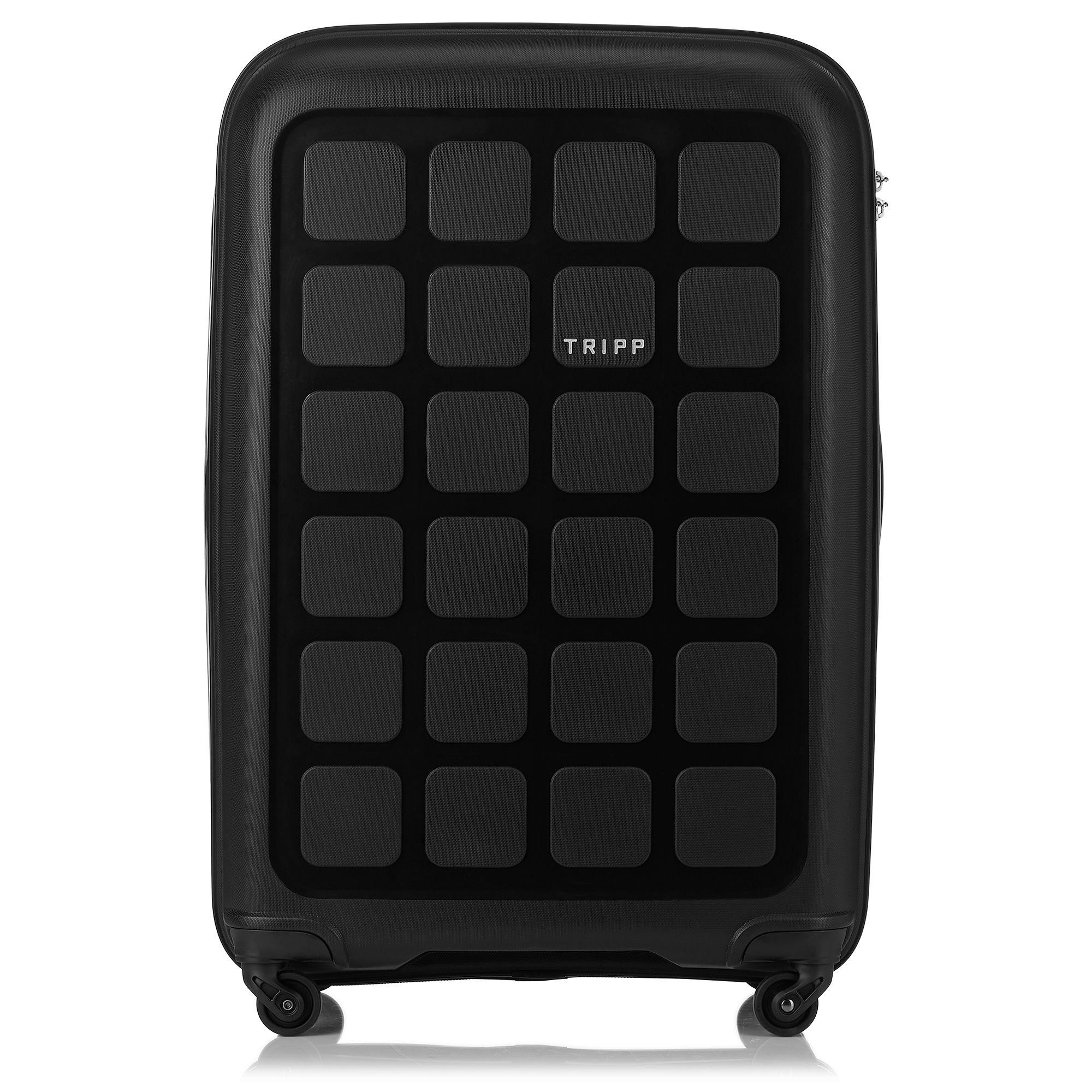 tripp black 39 holiday 6 39 large 4 wheel suitcase hard. Black Bedroom Furniture Sets. Home Design Ideas