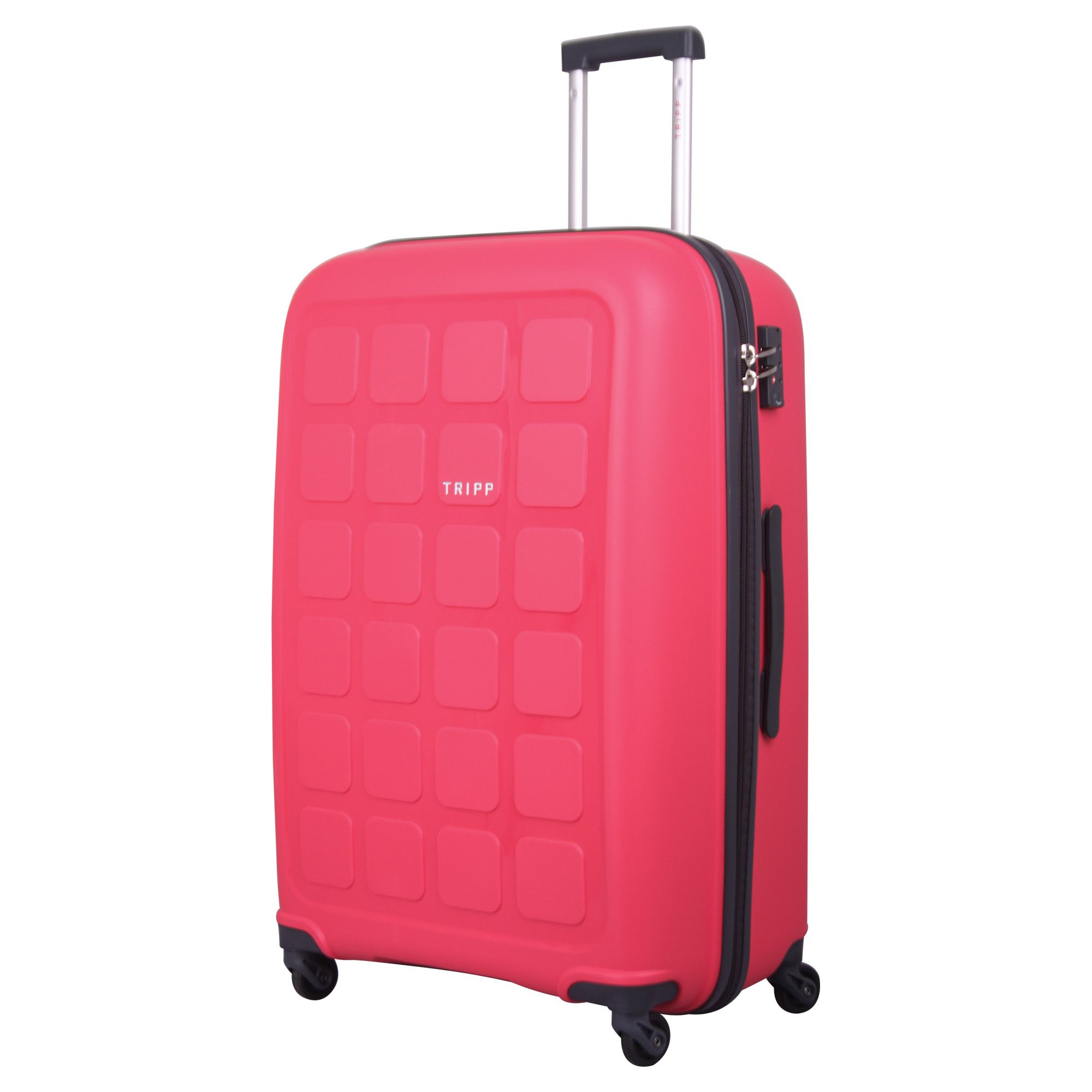 tripp raspberry 39 holiday 6 39 large 4 wheel suitcase hard. Black Bedroom Furniture Sets. Home Design Ideas