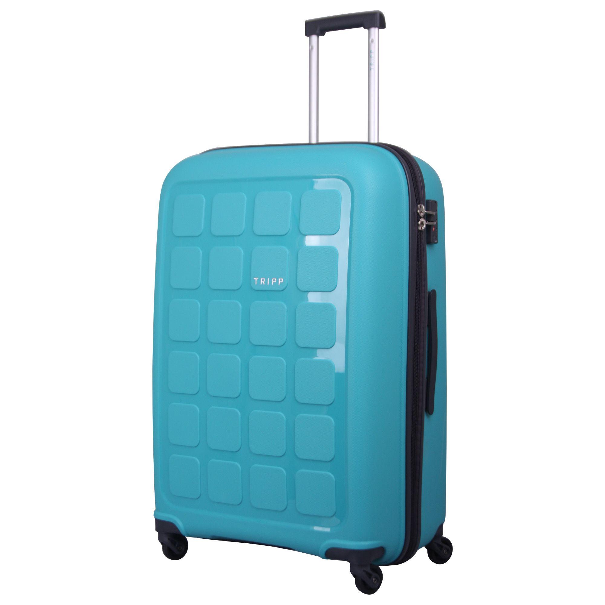 tripp mint 39 holiday 6 39 large 4 wheel suitcase hard. Black Bedroom Furniture Sets. Home Design Ideas