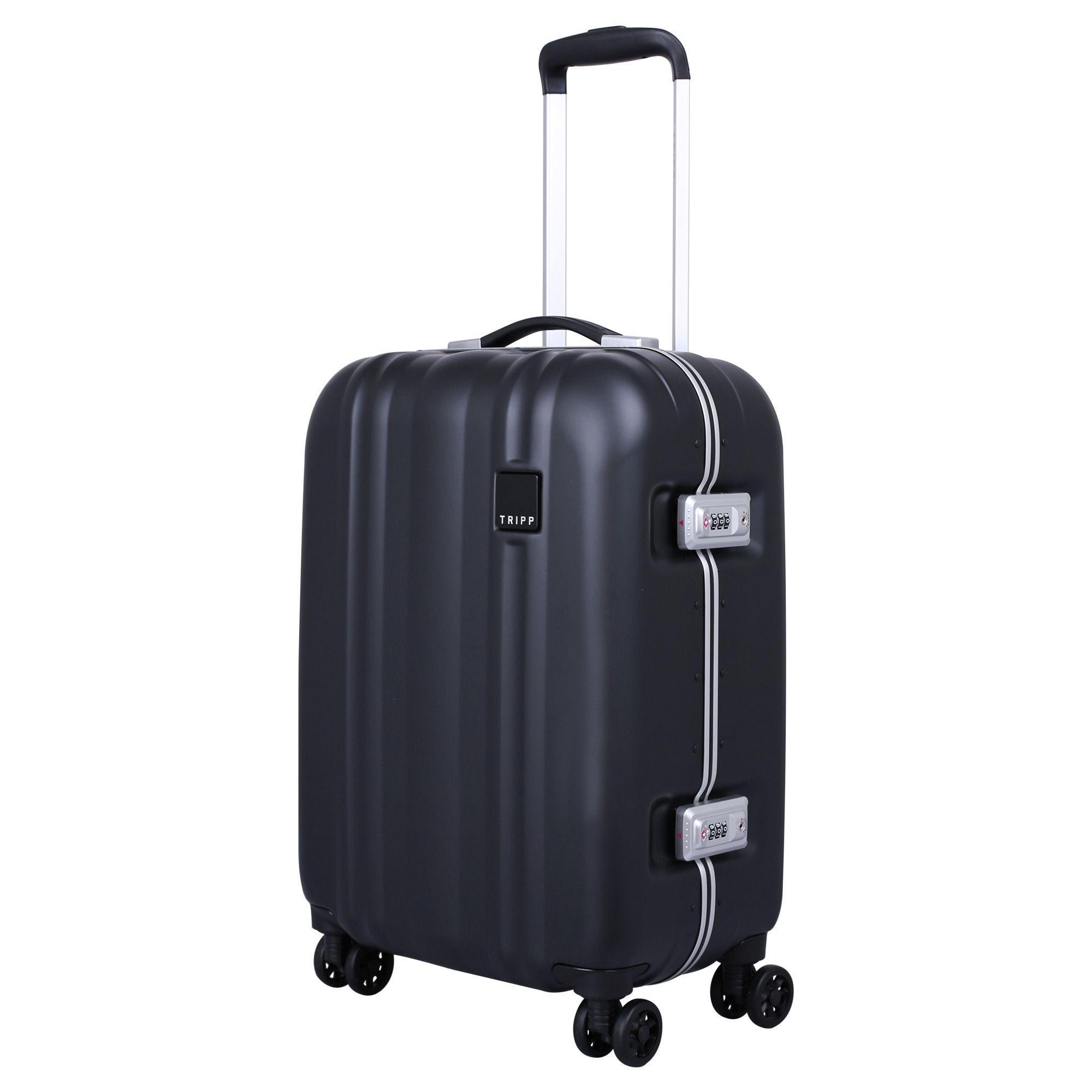 tripp black 39 absolute lite ii 39 cabin 4 wheel suitcase. Black Bedroom Furniture Sets. Home Design Ideas