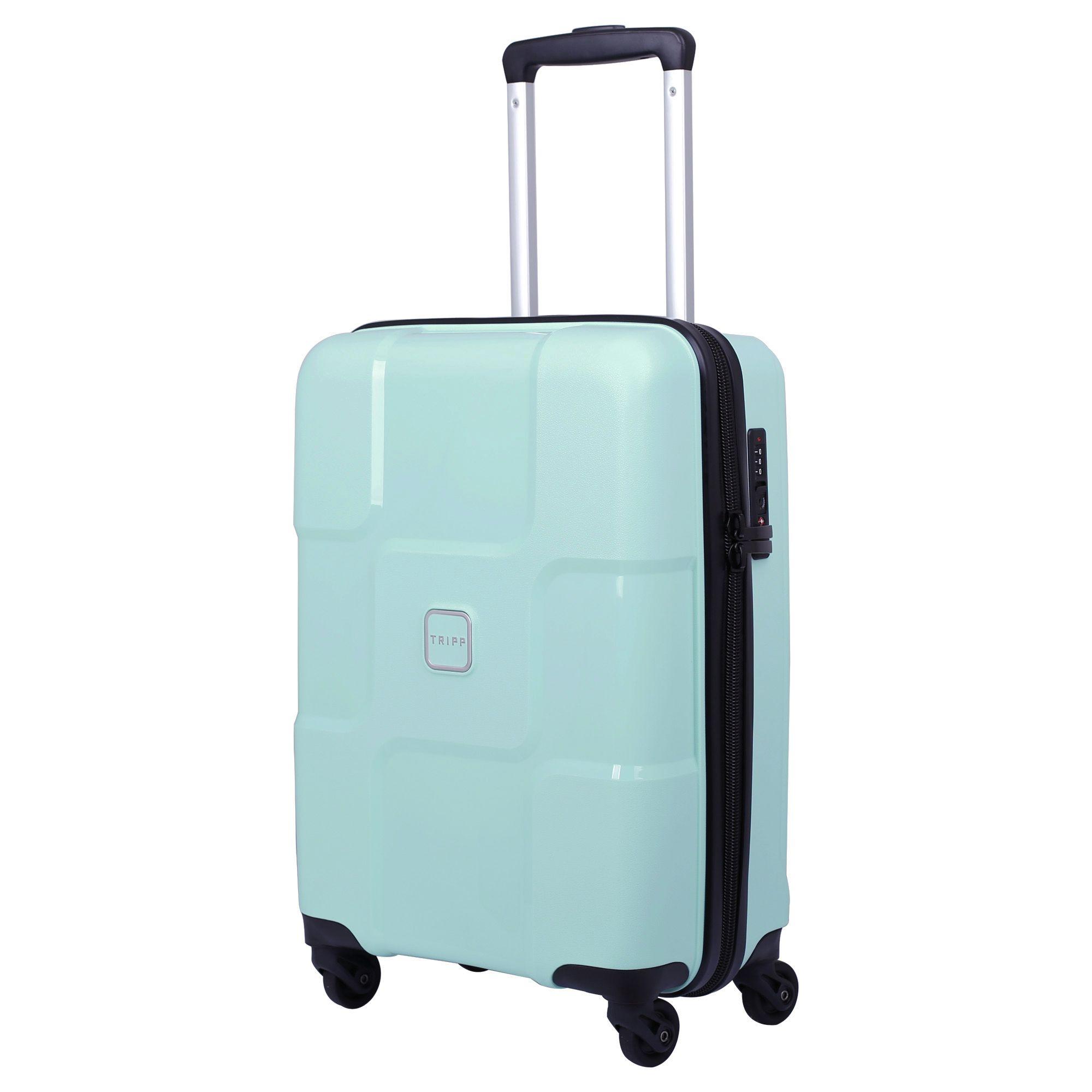 tripp aqua 39 world 39 cabin 4 wheel suitcase hard suitcases. Black Bedroom Furniture Sets. Home Design Ideas