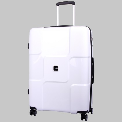 Tripp World 4-Wheel Large Suitcase White