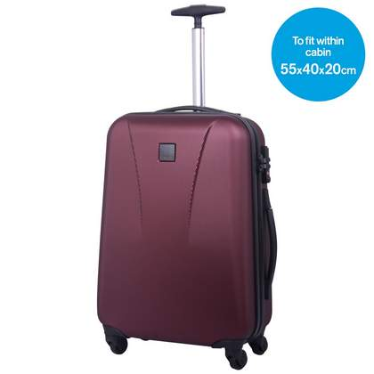 Tripp Lite 4-Wheel Cabin Suitcase Crimson