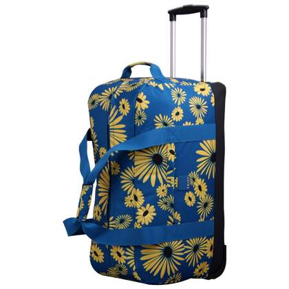 Tripp Daisy Large Wheel Duffle Turquoise/Yellow