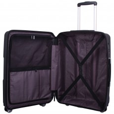 Tripp black 'World' 4 wheel large suitcase