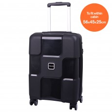 Tripp World 4-Wheel Cabin Suitcase Black