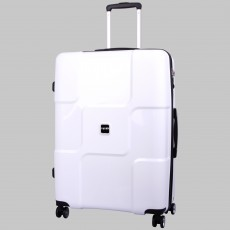 Tripp white 'World' 4 wheel large suitcase
