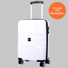 Tripp World 4-Wheel Cabin Suitcase White