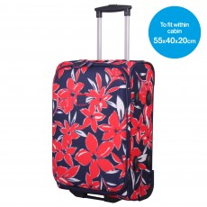 Tripp Flower Belle Cabin 2W Suitcase Navy/Red