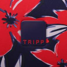 Tripp Flower Belle Large Wheel Duffle Navy/Red
