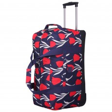 Tripp Tulip Large Wheel Duffle Navy/Red